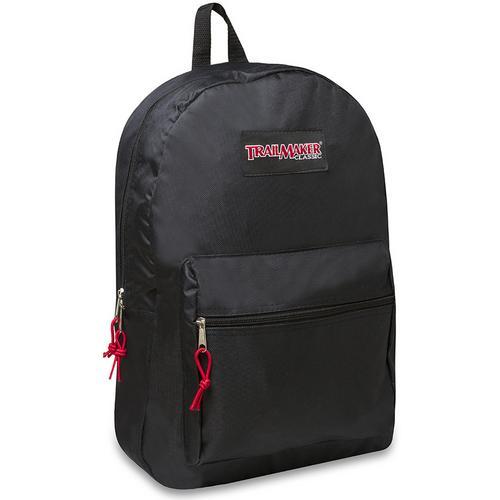 """Case of [24] 17"""" Trailmaker Basic Black Backpack"""