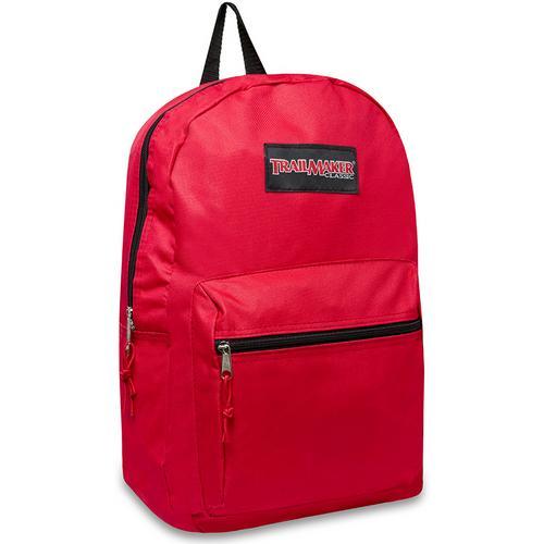 "Case of [24] 17"" Trailmaker Basic Red Backpack"