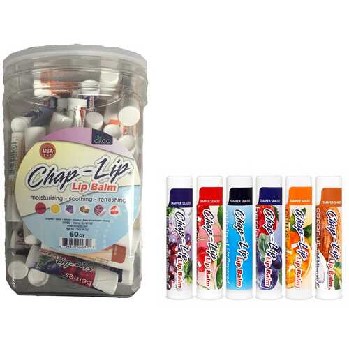 Case of [120] Chap-Lip Flavored Lip Balm - 0.15 oz, 60 Count, Canister