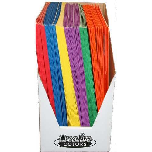 """Case of [100] Paper 2 Pocket Folder - Assorted Colors - 9.3"""" x 11.75"""""""