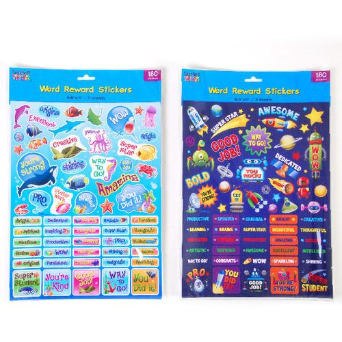 Case of [12] 180 count Word Reward Stickers with Uplifting Phrases