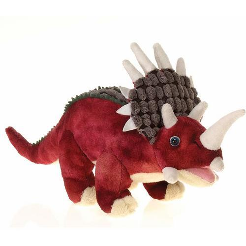 "Case of [24] 14"" Red Triceratops Plush Toy"