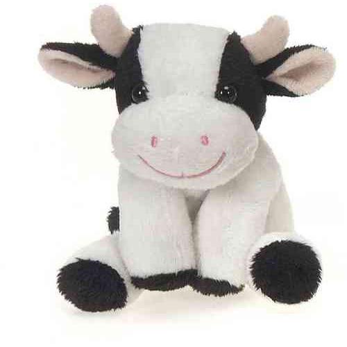 "Case of [48] 5"" Lil' Buddies Bean Bag Sitting Cow Plush Toy"