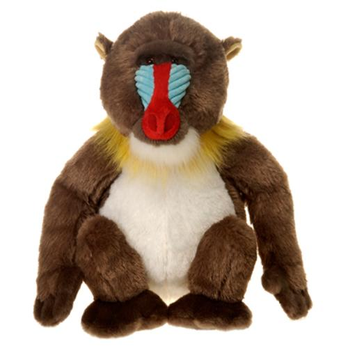 "Case of [12] 12"" Sitting Mandrill Plush Toy"