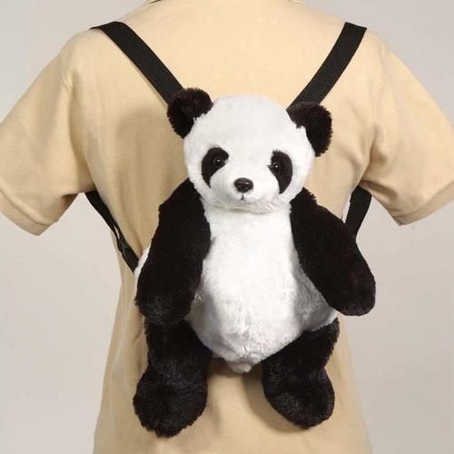"Case of [12] 16"" Travel Buddies Panda Plush Backpack"
