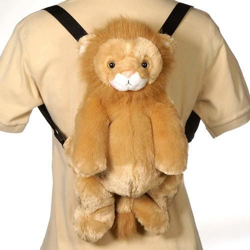 "Case of [12] 16"" Travel Buddies Lion Plush Backpack"