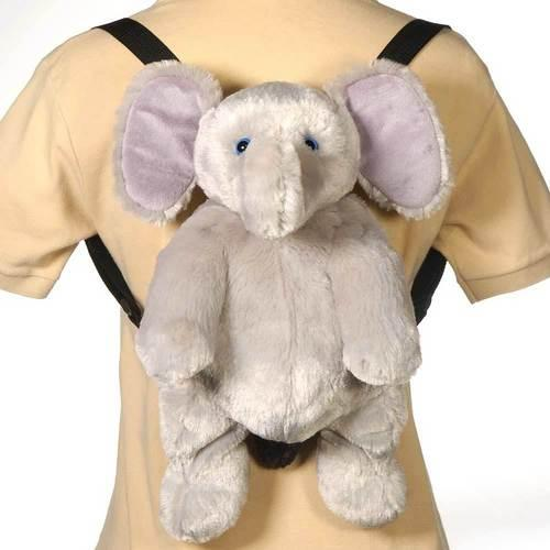 "Case of [12] 16"" Travel Buddies Elephant Plush Backpack"