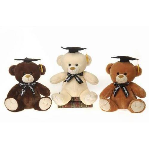 "Case of [12] 12.5"" Graduation Bear Plush Toy - Assorted Colors"