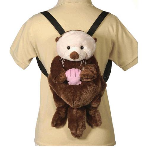 "Case of [12] 16"" Travel Buddies Sea Otter Plush Backpack"