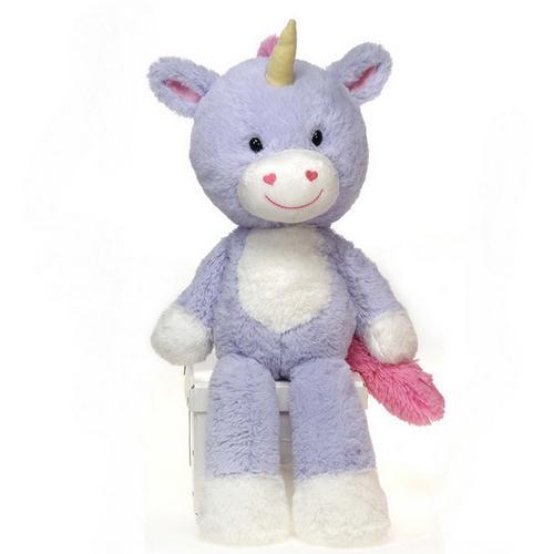 "Case of [12] 16"" Fuzzy Folk Lilly Unicorn Plush Toy"