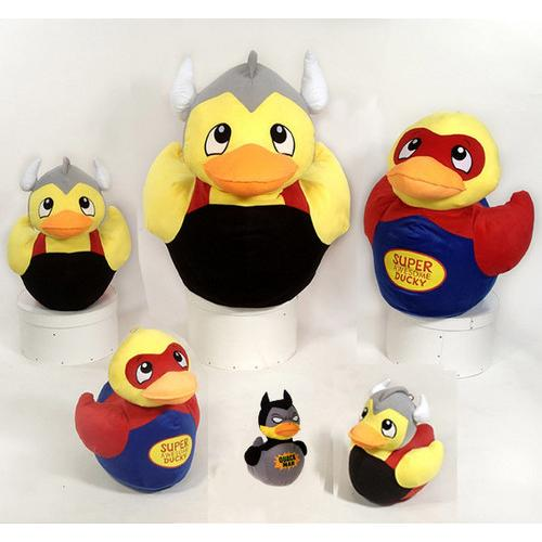"""Case of [12] 14.5"""" Super Duckies Plush Toy - Assorted Styles"""