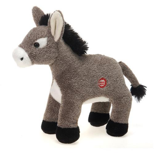 """Case of [24] 9.5"""" """"Dominic"""" Donkey with Sound Plush Toy"""