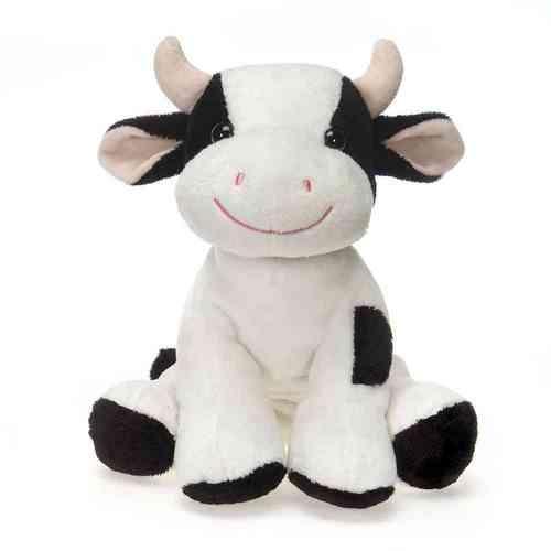 "Case of [24] 9"" Lil' Buddies Bean Bag Sitting Cow Plush Toy"