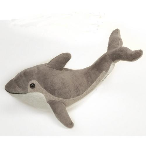 "Case of [24] 12"" Dolphin Plush Toy - Grey"