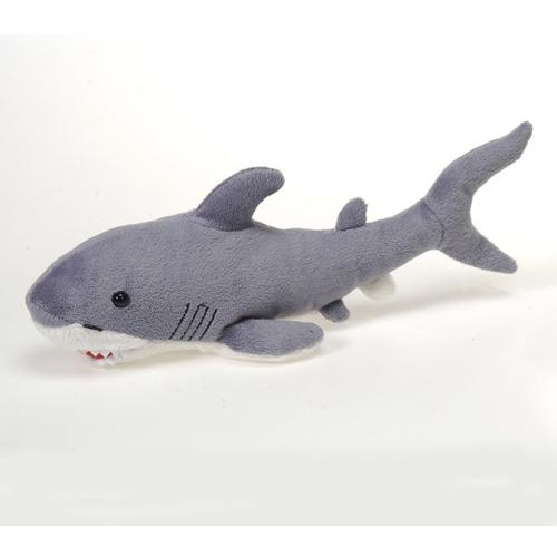 "Case of [48] 6.5"" Shark Plush Toy - Grey"