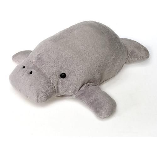"Case of [24] 14"" Lil' Buddies Manatee Plush Toy - Grey"