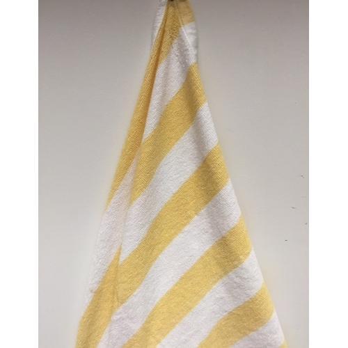 "Case of [24] Oxford Cabana Pool/Beach Towel - Yellow Stripe 30"" x 70"""