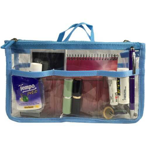 Case of [20] K-Cliffs Clear Handbag Organizer - Light Blue