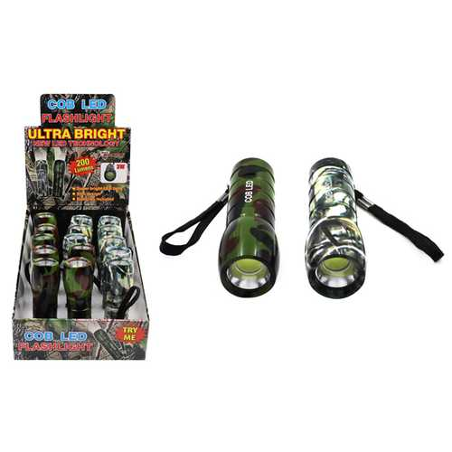 Case of [15] Camo - COB LED Flashlight