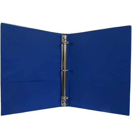 "Case of [24] 1"" Hard Cover (PVC Free) 3-Ring Binder - Navy"