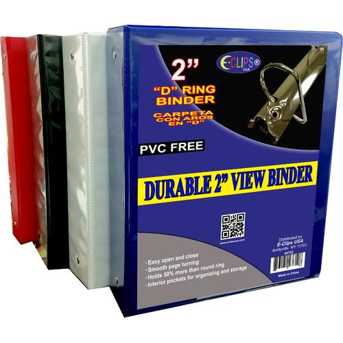 """Case of [12] Durable 2"""" View Binder - Assorted Colors"""
