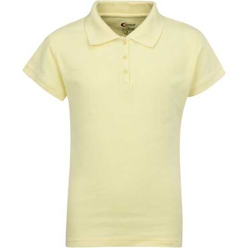 Case of [6] Premium Yellow Girls' Polo Shirts - Size 7/8 (S)