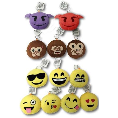 Case of [144] Emoji Keychains