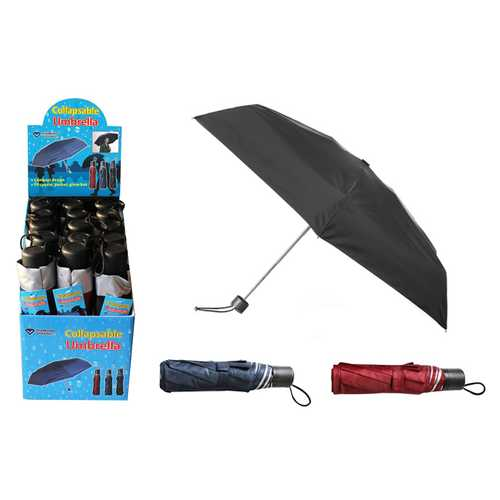 Case of [30] Solid Color Folding Umbrella