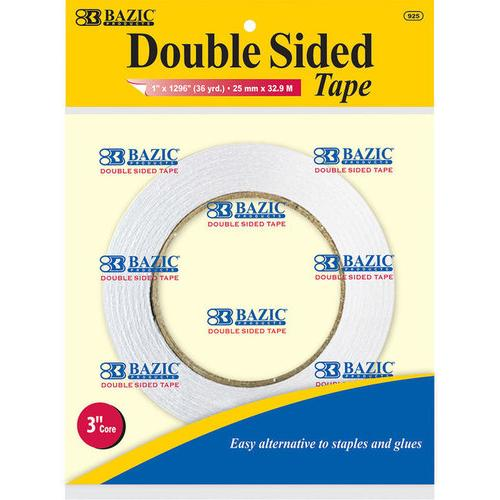 "Case of [24] BAZIC 1"" X 36 Yard (1296"") Double Sided Tape"
