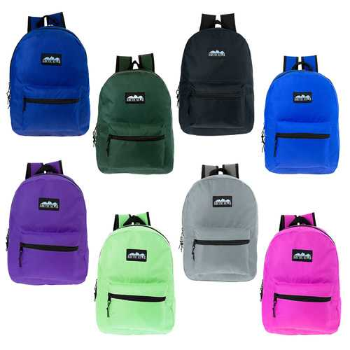 "Case of [24] 17"" Arctic Star Classic Backpack - 8 Assorted Colors"