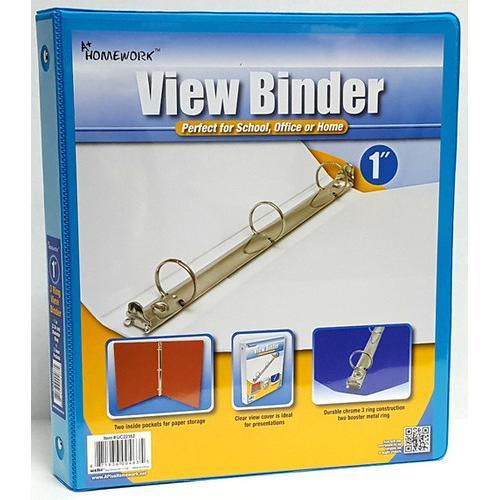 """Case of [12] 1"""" View Pocket Binder - Cyan"""