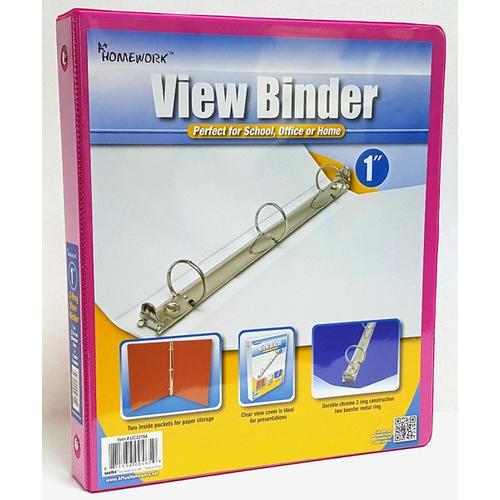 "Case of [12] 1"" View Pocket Binder - Fuchsia"
