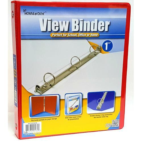 "Case of [12] 1"" View Pocket Binder - Red"