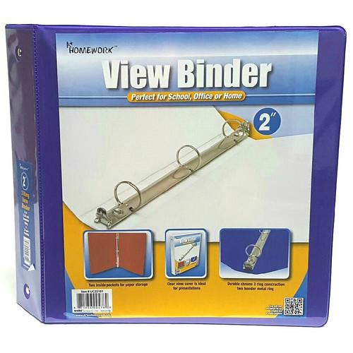 """Case of [12] A+ Homework 2"""" 3-Ring Binder - Purple, 2 Pockets, View Cover"""