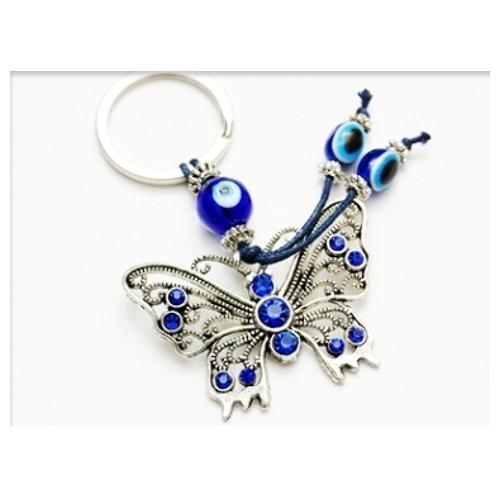 Evil Eye Butterfly Keychain