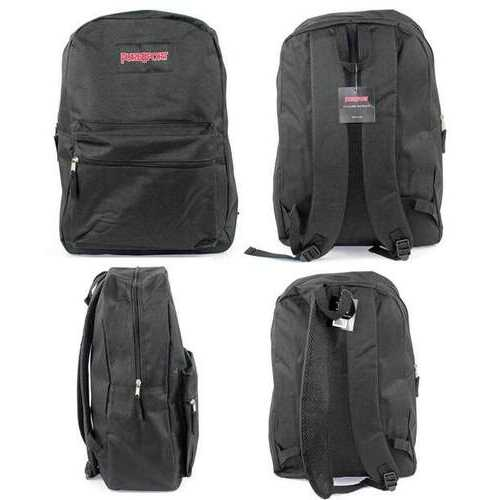 """Case of [12] 15"""" PureSport Classic Backpacks - Black"""