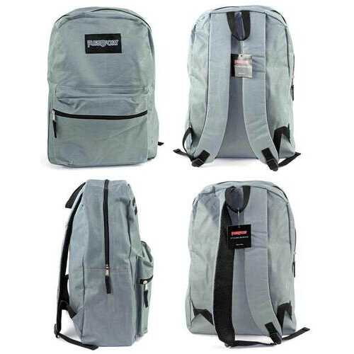 """Case of [12] 15"""" PureSport Classic Backpacks - Grey"""