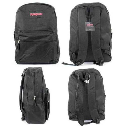 "Case of [12] 17"" PureSport Basic Backpacks - Black"
