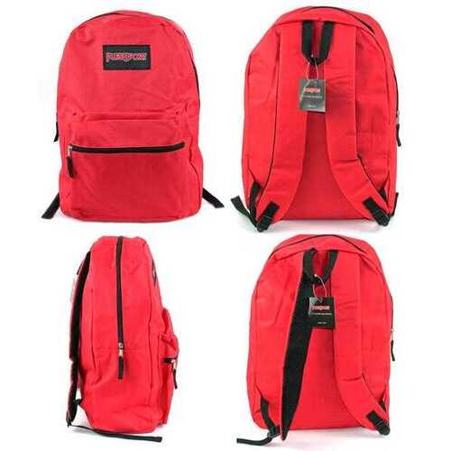 "Case of [12] 17"" PureSport Basic Backpacks - Red"