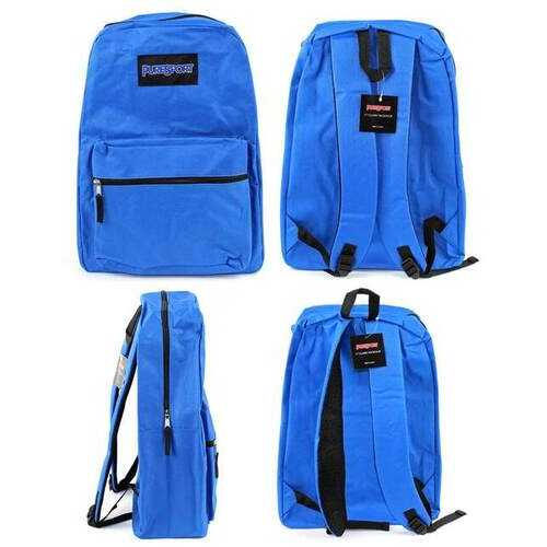 "Case of [12] 17"" PureSport Basic Backpacks - Blue"