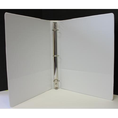 "Case of [12] 1.5"" Basic 3-Ring Binder w/ Two Inside Pockets - White"