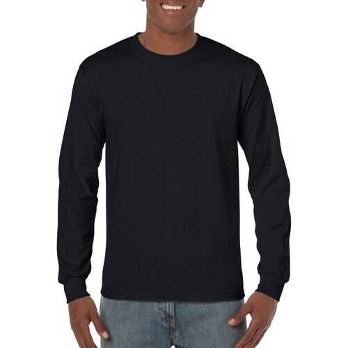Case of [12] Irregular Gildan Black Long Sleeve T-Shirts - Size Small