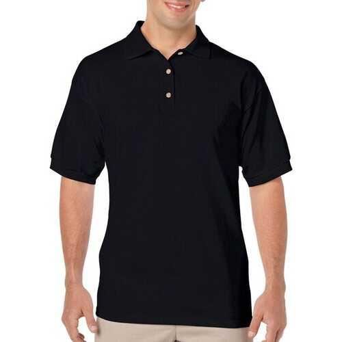 Case of [12] Irregular Gildan Black Polo Shirts - Size XL
