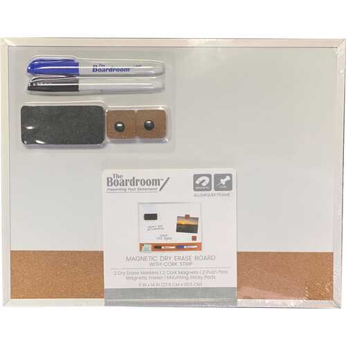 Case of [10] Dry Erase Combo Board