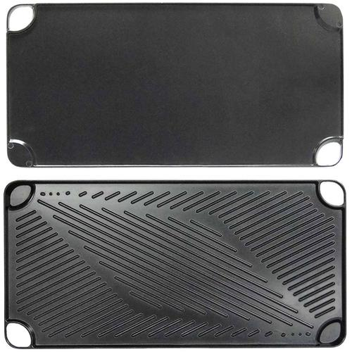 Case of [12] Black Aluminum Reversible Grill and Griddle Pan