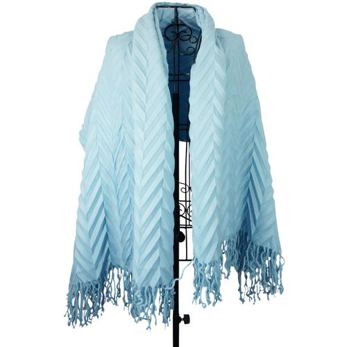 Case of [1] Deluxe Knitted Embossed Blanket Throw - Aqua
