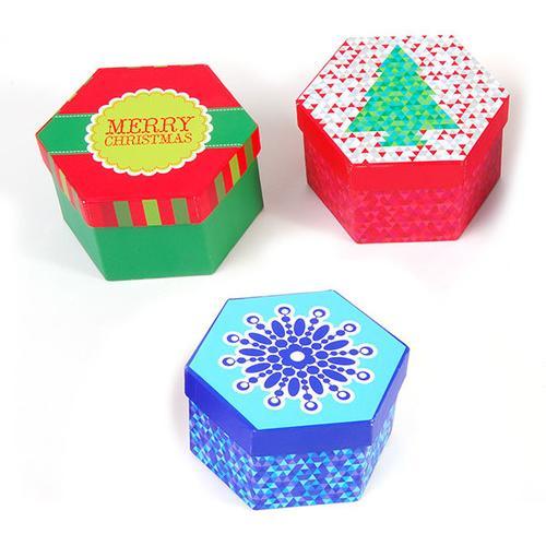Case of [12] Christmas Hexagon Boxes