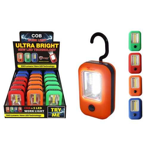 Case of [18] COB LED + 5 Work light