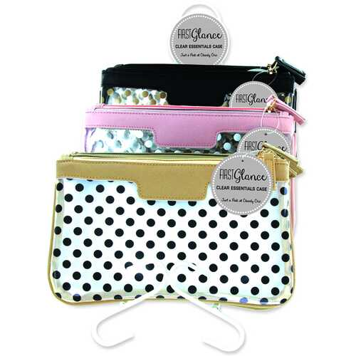 Case of [24] First Glance Clear Essentials Cosmetic Bag - Assorted Prints