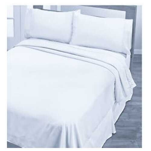 Case of [4] T-200 Sheet Set Queen Size - White